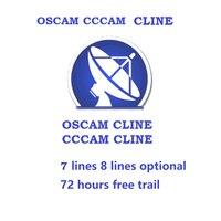 OSCAM servidor CCCAM Cline líneas servidor Canal + 4K Polonia C clines MGCAM NEWCAM C Línea con distribuidor panel para el Canal + 4K GermanSKY Receptor de TV por satélite Productos electrónicos -