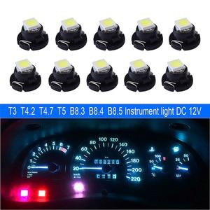 10x T3 T4.2 T4.7 T5 B8.3 B8.4 B8.5 LED Car light Bulb Luces LED Para 1 LEDs 1210 5050 SMD Auto Interior Side light