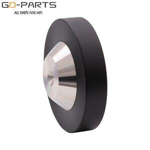 Image 5 - 39mm 49mm*12mm 304 Stainless Steel Graphite Speaker AMP Isolation Spike Pad Preamp DAC LP CD Mat Floor Base HIFI AUDIO DIY 4PCS