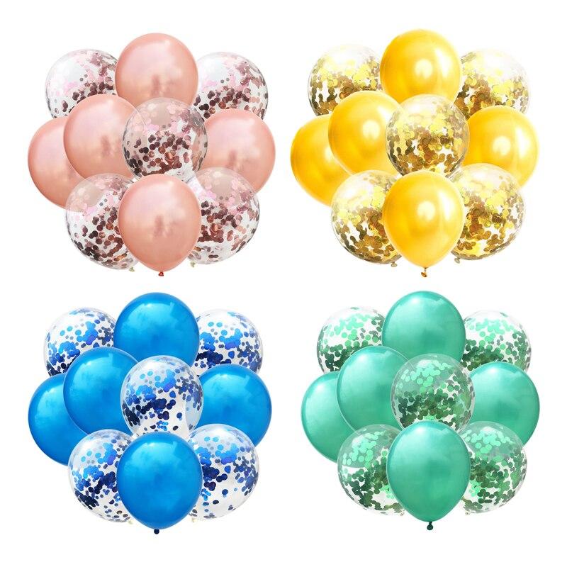 Balões de látex confete de 10, pçs/lote, 12 polegadas, para decoração de festa de casamento, aniversário, brinquedos infantis, balão de hélio
