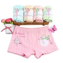 Girls Underwear Calcinha Infantil Kids Panties Boxer Short 2 Pcs Cotton Cartoon Underpants Puberty Lingerie Cultte Fille Panty