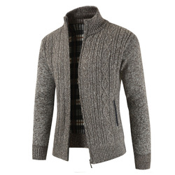 2019  Brand New Fashion Thick Sweaters Cardigan Coat Men Slim Fit Jumpers Knit Zipper Warm Winter Business Style Men Clothes 4