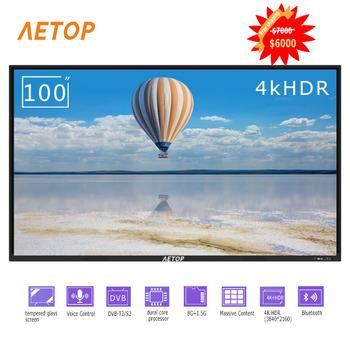 Darmowa wysyłka-gorąca sprzedaż 100 calowy płaski telewizor led 4k HD televison smart tv z bluetooth tanie i dobre opinie NoEnName_Null 16 9 DVB-T2 DVB-S2 SECAM NTSC 4 K (3840*2160) Kabel zasilający instrukcja obsługi STAND Kabel HDMI Oprawa ścienna