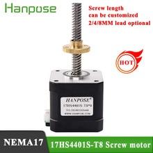 NEMA17 42 Stepper Motor 17HS4401S-T8*2 310mm Screw Rod Linear Z-Motor with Trapezoidal Lead Srew electronic automatic equipment