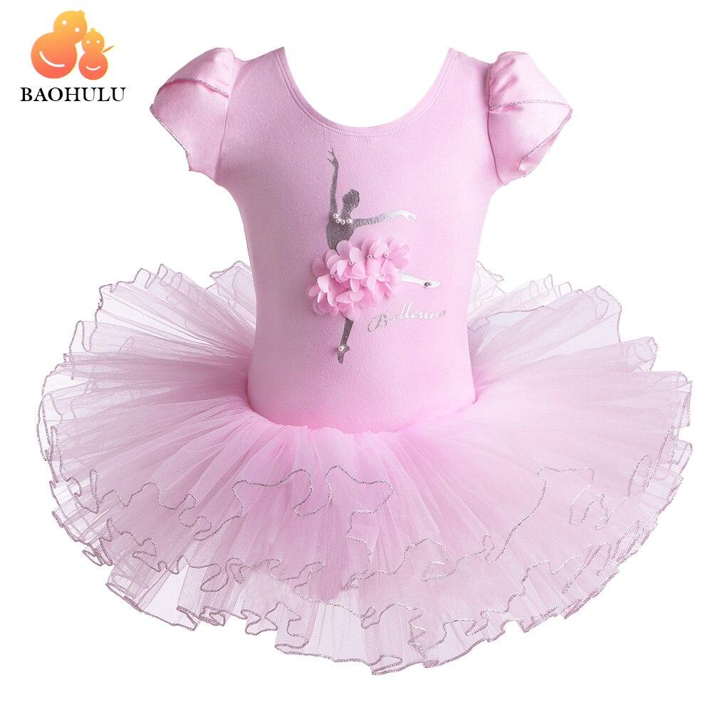 BAOHULU Girls Ballet Dress Baby Ballerina Professional Ballet Tutu Dance Wear Costume Rhinestone Gymnastics Leotard For Girl