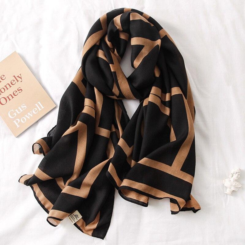 Luxury brand 2020 Autumn winter women scarf beach shawl cotton  lady fashion scarves bandana pashmina wrap hijab muffler