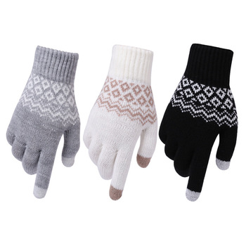 Women Winter Warm Knitted Thickened Stretchy s Gloves Female Thermal Casual Covered  Halter Girls Accessories mittens - discount item  20% OFF Gloves & Mittens