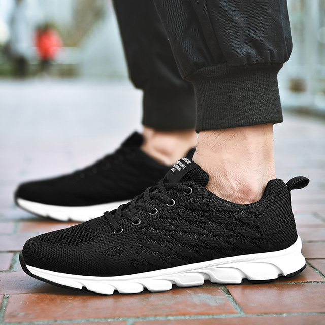 Summer Breathable Mesh Shoes Men Sneakers Comfortable Men's Casual Shoes 4 Colors Lightweight Walking Mans Footwear Big Size 46