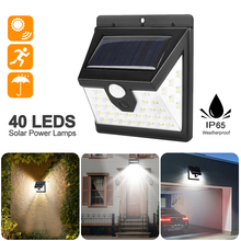 40LED Solar Light Outdoor Solar Lamp PIR Motion Sensor Wall Light Waterproof Solar Powered Sunlight for Garden Decoration