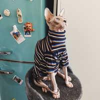 Gatto Vestiti per Sfinge Vestiti Hairless Cat Vestiti Dei Vestiti A Strisce Caldo Maglione Lavorato A Maglia Vestiti Dell'animale Domestico del Gatto Fornitore XS alla XL