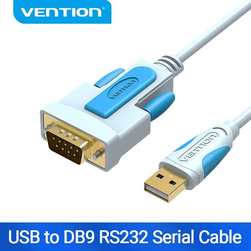 Vention USB DB9 RS232 seri kablo adaptörü USB COM portu DB9 Pin kablo RS232 Windows 7 8 10 için XP Mac OS X yazıcı LED POS