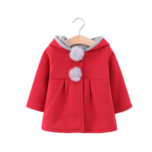 2019 new toddler girl coat winter cute children rabbit ears jacket baby warm clothes fashion Kids hooded clothing