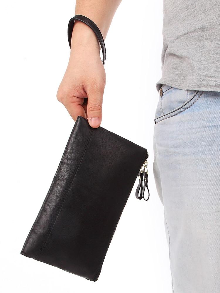 MISFITS Long Purse Wallets Clutch-Bag Double-Zipper Organizer Multi-Function Brand Man