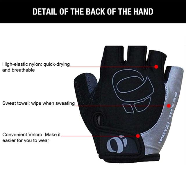 1 par metade do dedo luvas de ciclismo-deslizamento-suor gel bicicleta luvas de equitação choque mtb estrada mountain bike luvas esportivas 3