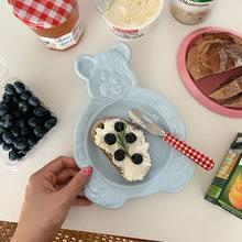 Placa cerâmica da sobremesa da placa do kawaii placas de cerâmica dos utensílios de mesa para o alimento placas e bacias de jantar placa de frutas cerâmicas