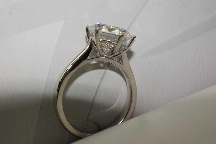 Choucong Solitaire Braut setzt Ring 925 sterling Silber Sona 9mm AAAA cz Charme Hochzeit Band Ringe Für Frauen Braut partei Schmuck