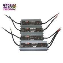 LED ultra ince su geçirmez güç kaynağı IP68 AC110V 220V to DC12V/ DC24V trafosu 45W/60W/100W/120W/150W/200W/300W led sürücü