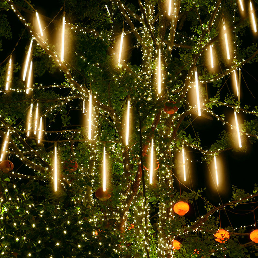 50CM 30CM Meteor Shower Rain Tubes Light SMD2835 Outdoor Garden Christmas Wedding Party Tree Snowfall Fairy String Garland Light
