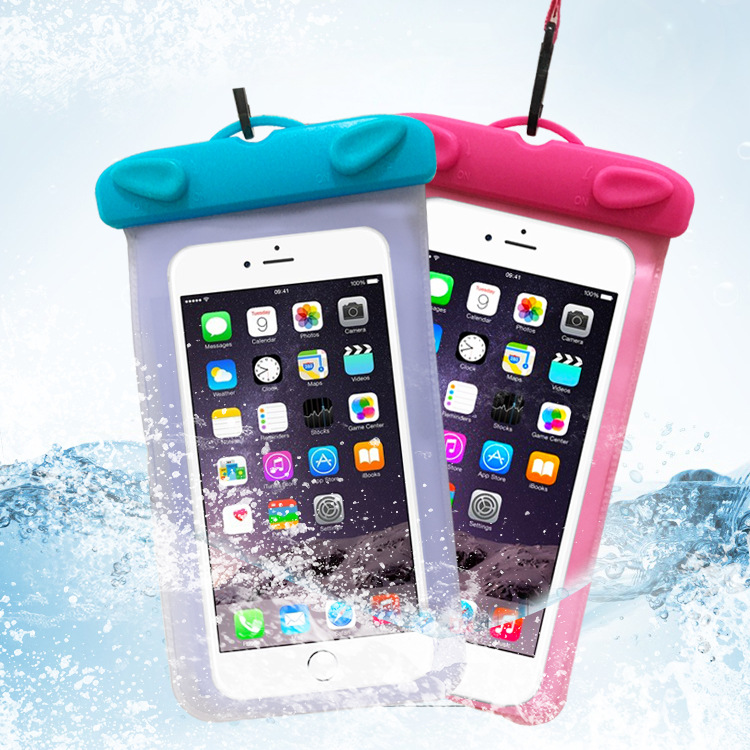 Manufacturers Direct Selling-Touch Screen Waterproof PVC Mobile Phone Case Swimming Rafting Transparent Camera Waterproof Cover
