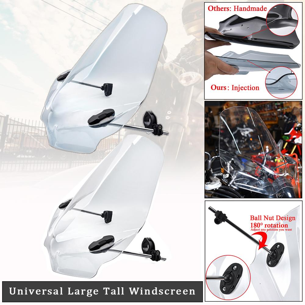 Motorcycle Adjustable Windscreen Windshield Wind Deflector For Honda Harley Yamaha Kawasaki Ducati KTM BMW Suzuki Universal Fit