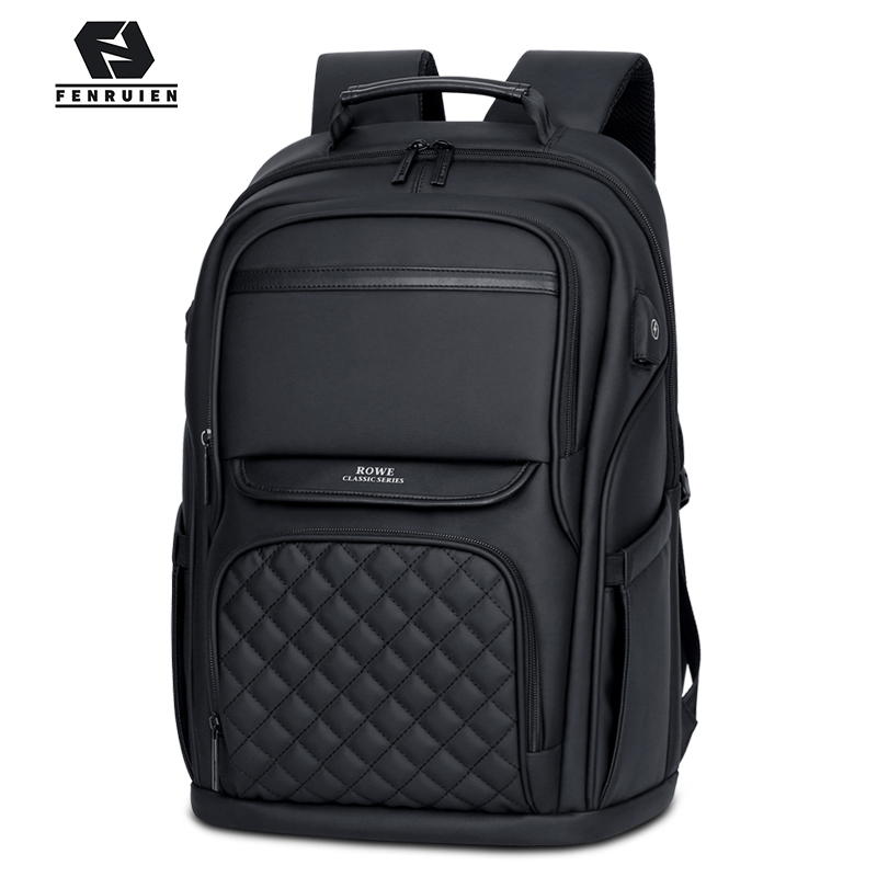 FENRUIEN Fashion Men Backpack Multifunctional Waterproof 15.6 Inch Laptop Bag USB Charging Travel Bag Casual Women Schoolbag