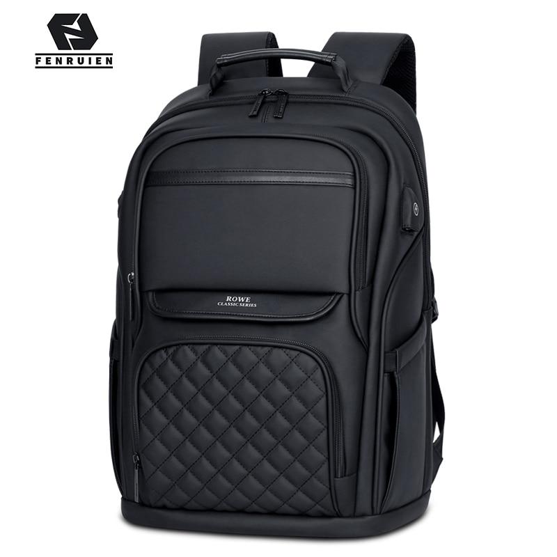 FENRUIEN Fashion Men Backpack Multifunctional Waterproof 15.6 Inch Laptop Bag USB Charging Travel Bag Casual Women Schoolbag