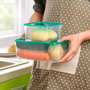Image 2 - 17 teile/satz Küche Mikrowelle Kühlschrank Dichtung Lebensmittel Lagerung Box Container Klaren Kunststoff Behälter Lagerung