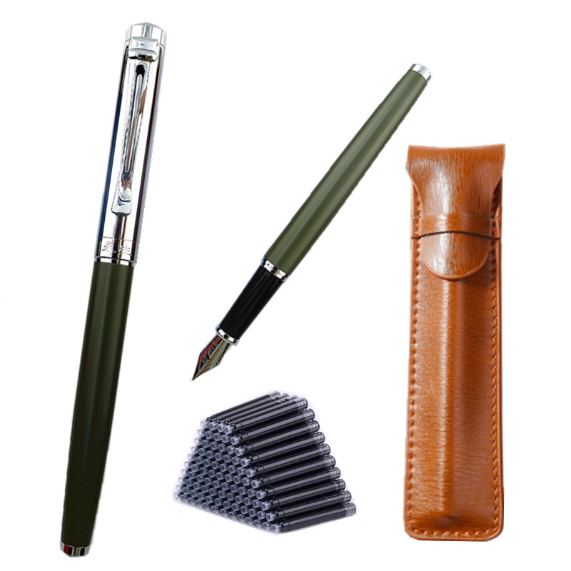 Wing Sung Metal Fountain Pen diamond F Nib High Quality Excellent Writing Gifts For Business Office Supplies