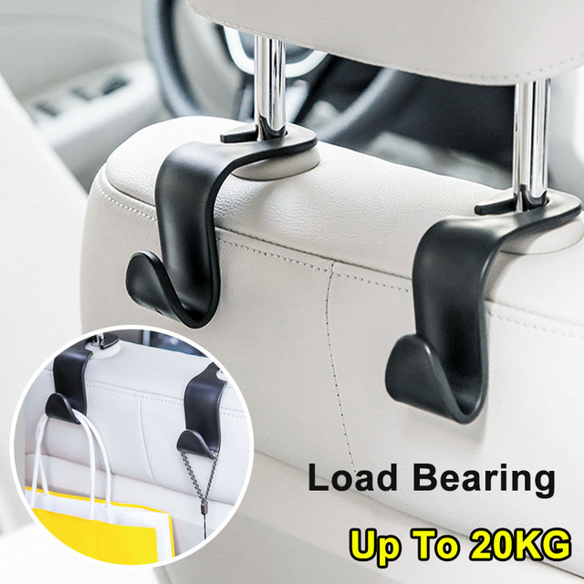 2 個カーシートバックフッククリップユニバーサルヘッドレストハンガー収納ため自動製品ハンドバッグ収納車のスタイリング