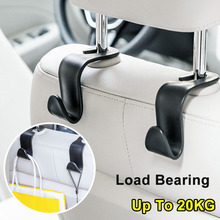2pcs Car Seat Back Hooks clips Universal Headrest Hanger Storage Hooks for Hanging Auto Products Handbag Storage Car Styling