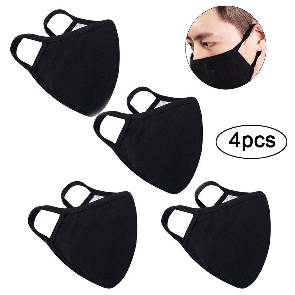 US 1/2/3/4/10/20 pcs Cloth Reusable Masks with PM2.5 Replaceable Activated Carbon Filters