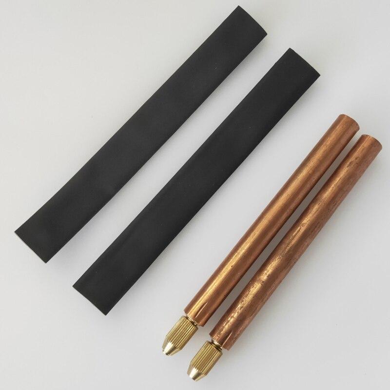 1 пара точечных сварочных ручек машина красная медь батареи точки сварщик ручной DIY запасные части для RC 18650 хранения энергии инструменты