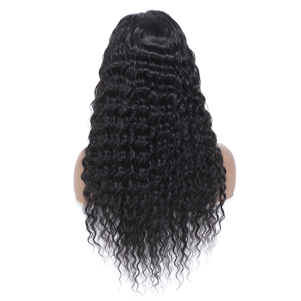 4x4 Lace Closure  Wigs  Water Wave Wig Part Lace Wig  Pre Plucked  Deep Curly Wig Natural Color 2
