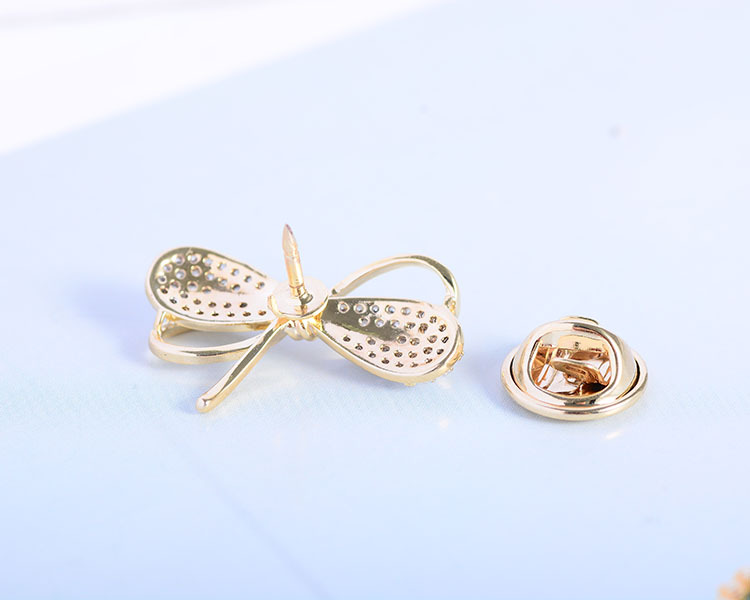 Mini Bowknot Brooch Pin for Women's Silver Vitage Brooch Jewelry Clothes Scarf Buckle Garment Accessories Fine Jewelry Gifts-5