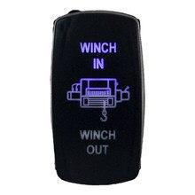 Синяя светодиодсветодиодный Лазерная тумблер-переключатель для Jeep Polaris UTV, грузовиков, лодок, 7-контактные переключатели, реле, Стайлинг