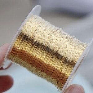 Icnway 1 м в партии импортный 14 К позолоченный светильник с золотым полужестким проводом DIY ювелирные изделия ручной работы аксессуары для намо...