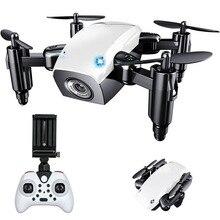 Мини-Дрон с HD 0.3mp камерой, wifi, складной Радиоуправляемый вертолет, воздушные дроны, Wi-Fi FPV Карманный Дрон, Радиоуправляемый квадрокоптер, игрушки в подарок
