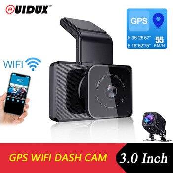 QUIDUX 3.0 inch WIFI Car DVR Camera dashcam Speed N GPS coordinates full HD 1080P Night Vision Dash Cam 24 Hours Parking Monitor