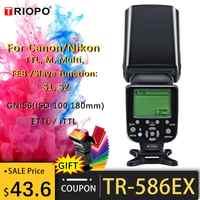 Triopo TR-586EX Mode sans fil TTL Speedlite flash pour Canon 5D Nikon D750 D800 D3200 D7100 appareil photo reflex numérique comme YONGNUO YN-568EX