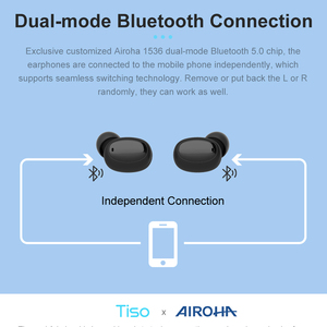 Image 3 - Tiso i6 dual mode wireless earphones touch control seamless Bluetooth 5.0 headphone noise cancelling Mic 3D TWS stereo headset