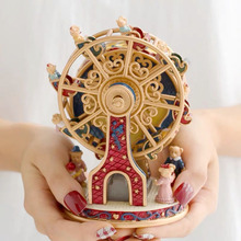 Ferris Wheel Birthday Cake Resin Music Box Toy Decoration Cu