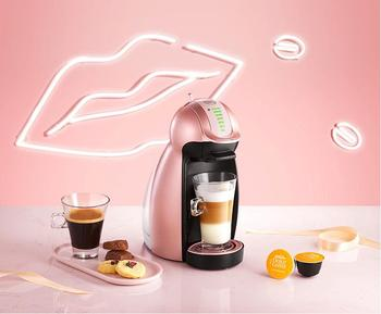 Nescafe Dolce Gusto household Capsule Coffee Machine Home Fully Automatic Office Genio Electric drip cafe maker Rose Gold pink
