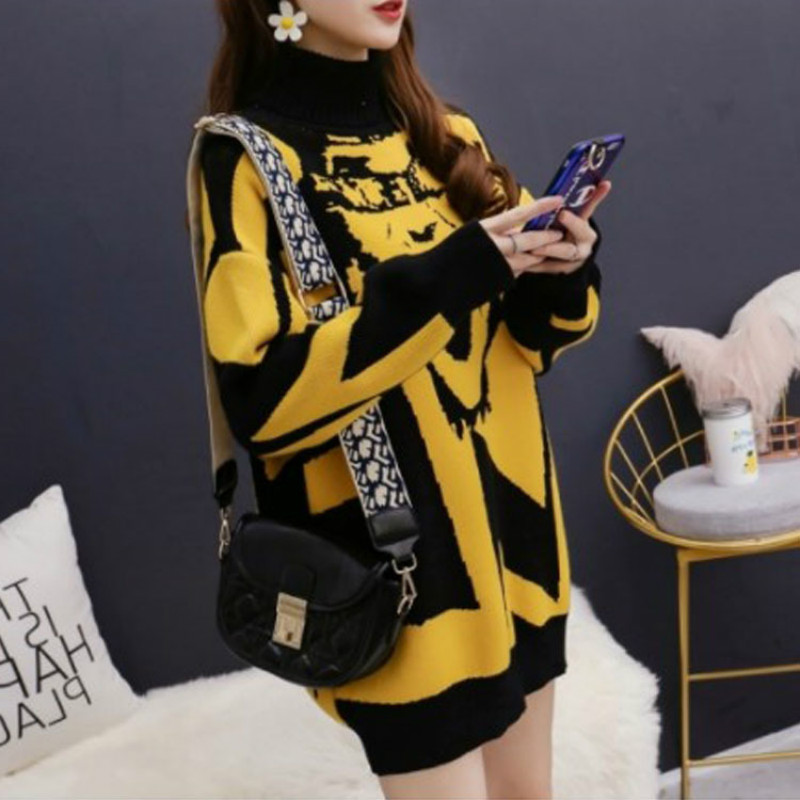2020 Women Clothes Fashion Knitted Breastfeeding Maternity Tops Sweater Mother High Neck Sweater Feeding Clothes Pregnant dress