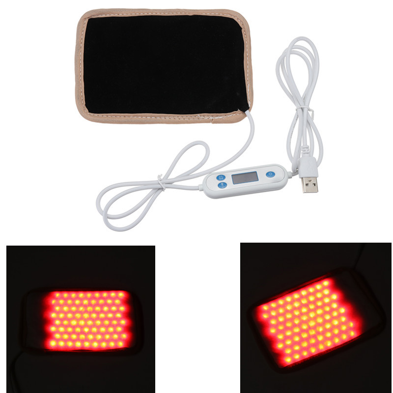 1pcs DC5V USB Infrared Red Heat Light Therapeutic Therapy Lamp 72 Led Time Temperature Adjustment Health Pain Relief Machine