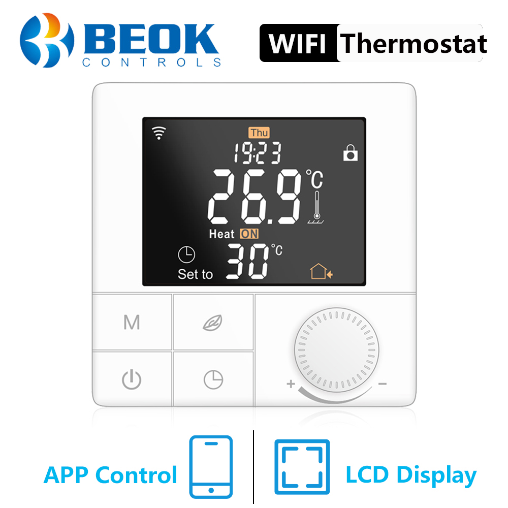 Beok 220v inteligente wi fi termostato de aquecimento para água piso elétrico aquecimento quente regulador temperatura controle casa inteligente
