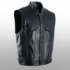 Image 3 - Leder Jacke Heißer Verkauf Weste Mens Sleeveless Punk Tasche Lose Fit Schwarz Marke Motorrad Weste Mäntel PU Männlichen Streetwear