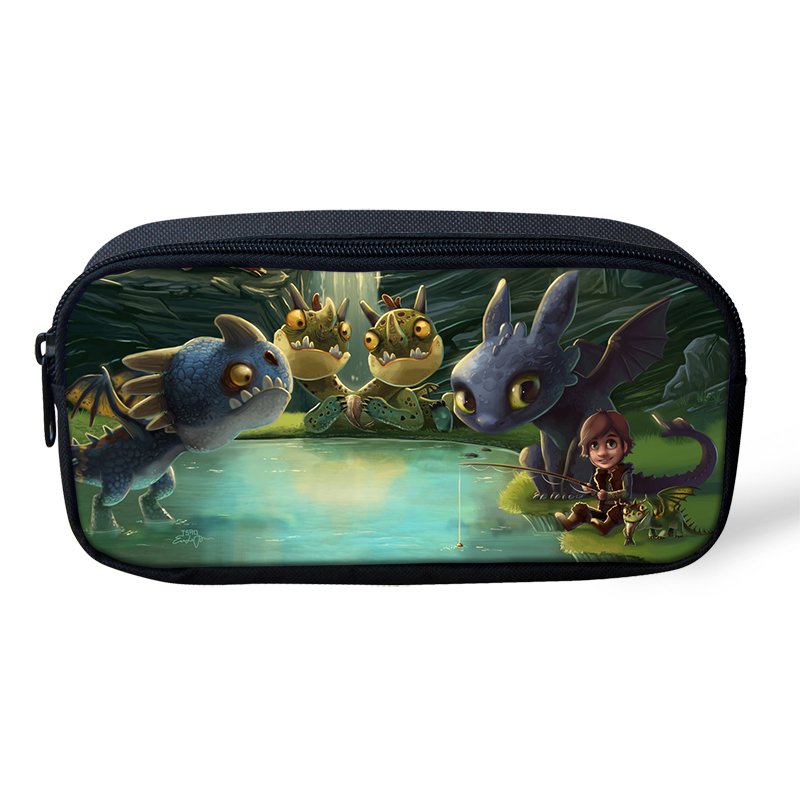 HaoYun Kids Pencil Case How to Train Your Dragon Pattern Students Stationery Box School Supplies Pen Bag Kawaii Girls Beautician in Cosmetic Bags Cases from Luggage Bags