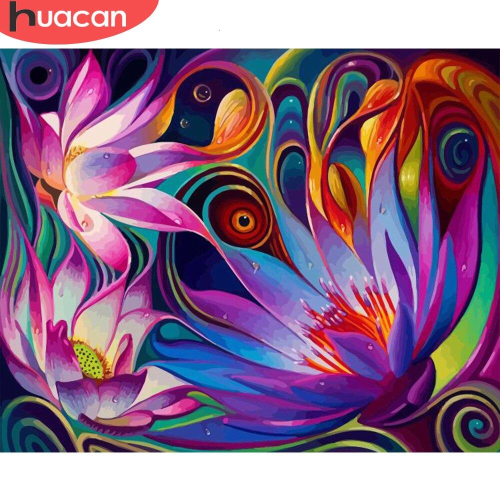 HUACAN Bilder Durch Zahlen Blumen Handgemalte Malerei Kits Kunst Dawing Auf Leinwand DIY Hause Dekoration Geschenk