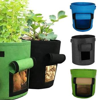Planting Grow Bag Non-woven Potato Planting Grow Bag Vegetable Gardening Nursery Pot Container Anti-corrosive Garden Pot Tomato image