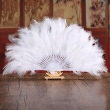 Miękkie puszyste Lady burleski ślub przebranie rąk kostium taniec wachlarz z piór